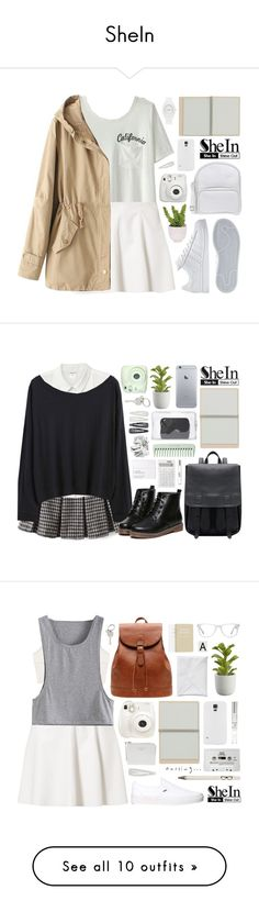"""""""SheIn"""" by alexandra-provenzano ❤ liked on Polyvore featuring Vero Moda, adidas, Jil Sander Navy, Nixon, Lux-Art Silks, Forever 21, Crate and Barrel, 3.1 Phillip Lim, Fuji and Paul Smith"""