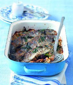 Pstruh plněný hříbky recept - ApetitOnline.cz Fish And Seafood, Japchae, Food And Drink, Ethnic Recipes, Recipes, Food And Drinks, Food Food