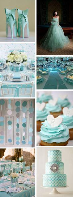 Tiffany Blue Weddings - but I still want a white dress instead! http://pinterestinglady.com/?p=773