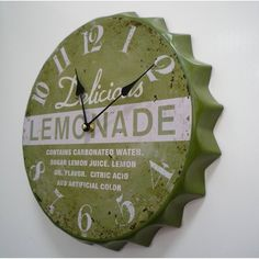 Love this clock! Kitchen Wall Clocks, Rustic Wall Clocks, Antique Clocks, Vintage Clocks, Outdoor Clock, Classic Clocks, Retro Clock, Time Heals, Cool Clocks