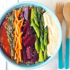 This easy quinoa superfood bowl will make you feel like a million bucks!!