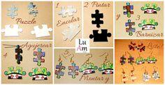 #diy #tutorial #puzzle #pendientes #recicla