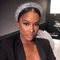 Looking for some inspiration for the hair pieces for the ladies on your Then you save this post for your Belle . Beauty Makeup, Hair Makeup, Hair Beauty, Bridal Beauty, Bridal Hair, Summer Makeup Looks, Black Girl Makeup, Wedding Hair Pieces, Floral Hair