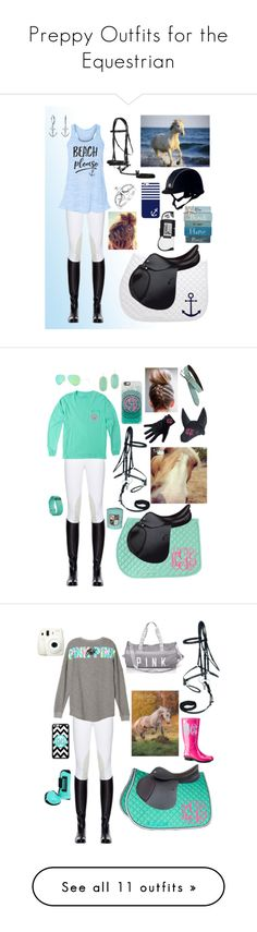 """""""Preppy Outfits for the Equestrian"""" by thepreppy-equestrian ❤ liked on Polyvore featuring Miasuki, Casetify, Bling Jewelry, Fitbit, Kendra Scott, Ray-Ban, Chooze, Fujifilm, UGG Australia and Jennifer Lopez"""