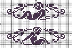 Two little angels - Chart for cross stitch or filet crochet.