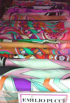 Emilio Pucci scarves at Century 21.