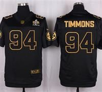 Nike Pittsburgh Steelers #94 Lawrence Timmons Black Men's Stitched NFL Elite Pro Line Gold Collection Jersey