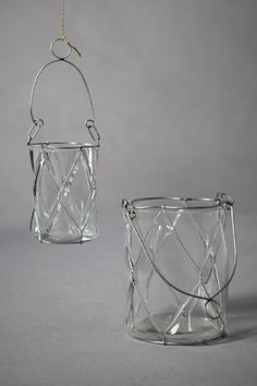 Hanging candle baskets