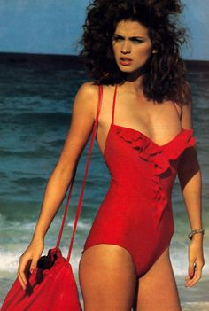 Francesco Scavullo for American Vogue, May 1980. Swimsuit by Halston.