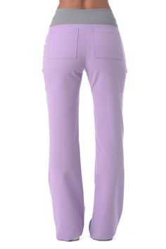"Women's ""Cross My Hip"" Pant - Lavender – Body Intelligence Cute Scrubs Uniform, Spa Uniform, Scrubs Outfit, Medical Uniforms, Work Uniforms, Stylish Scrubs, Nursing Clothes, Nursing Scrubs, Cute Medical Scrubs"