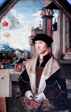 Jan Mostaert (1475-1555, Haarlem). Portrait of a counselor at the Court of Holland. Brussels. Royal Museums of Fine Arts.