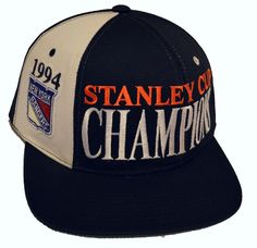 e8ac4eee34b Vintage STARTER NHL NY Rangers 90s 1994 Stanley Cup Champions Snapback Hat