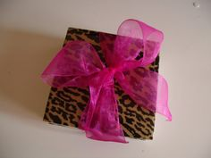Cheetah Print Ceramic Table Coasters by crazydaisy12 on Etsy, $12.00