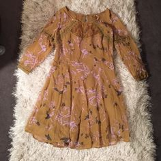 Free People fall floral dress  Brand new never worn! Perfect for fall so beautiful  feel free to make an offer! NWOT Free People Dresses