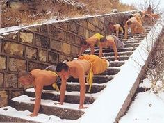 shaolin temple - Google Search  Wintertime training at this dojang. I think yes.
