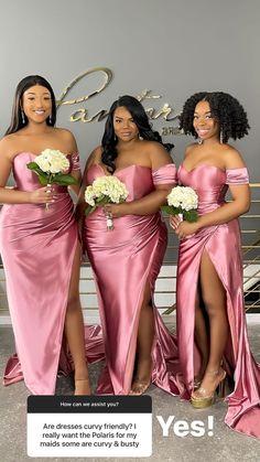 Bridal Dresses, Bridesmaid Dresses, Bridesmaids, Curvy Dress, Party Ideas, Beautiful, Fashion, Bride Dresses, Bridesmade Dresses