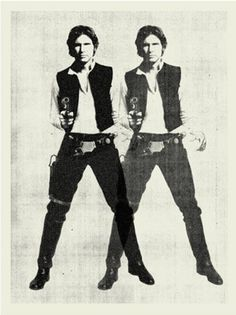 Move over Elvis! Han Solo meets Andy Warhol in a poster by Concepcion Studios.More must have poster art today on  http://interiorator.com/han-solo-by-andy-warhol-other-must-have-posters/