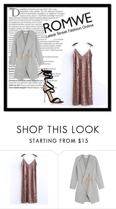 """""""ROMWE"""" by polyvore-girl12 ❤ liked on Polyvore featuring Balmain, Vanessa Bruno and Gianvito Rossi"""