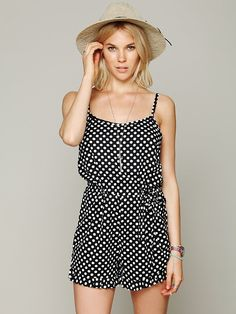 Free People Printed Dot Romper at Free People Clothing Boutique