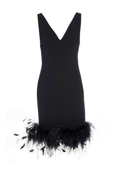 Little Black Dress Women's The Audrey Feathered Hemline Dress at Amazon Women's Clothing store: