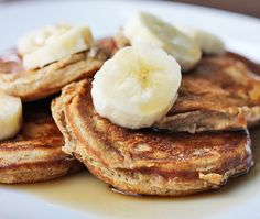 Skinny Mini Banana Pancakes are a fun, easy and delicious breakfast to make for your family.