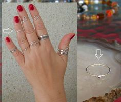 "925 Sterling Silver, ""Charming ball"" 1mm Band Midi Ring Above Knuckle Ring. http://stores.ebay.ie/SilverTrend4U?_rdc=1"