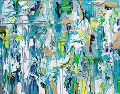 "Reflection Pool  36"" x 24"" acrylic on canvas 2015 adamcohenstudio.com"