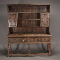 Baroque Style Oak Two Part Welsh Dresser