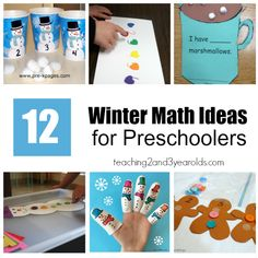 12 winter math activities for preschoolers that are hands-on and fun!