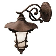 "$150 Kichler Rustic Bronze 12 1/2""  Down Mount Outdoor Wall Light"