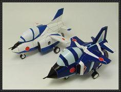 SD Blue Impulse Mitsubishi T-2 Free Aircraft Paper Model Download