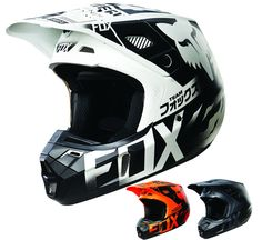 Fox Racing V2 Union Mens Dirt Bike Off Road Motocross Helmets