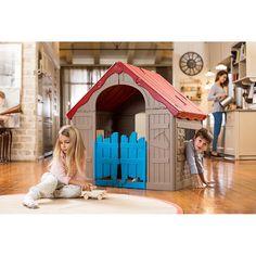 Casinha infantil fabricada em polipropileno injetado 100% reciclável. Permite que as crianças se divirtam com segurança e qualidade, em interiores ou exteriores.<br><br>Esta casinha infantil é ideal para espaços pequenos, é dobrável e transforma-se em mala em apenas 4 passos muito simples.<br><br>A casinha ideal para brincar no interior ou no exterior!<br><br>As crianças podem dar asas à imaginação e criar o seu pequeno refugio. Dimensões: 100 x 89 x 110 cm...