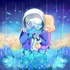 Undertale feels Sans and Frisk (Idk the artist. Maybe it appears ones you click…