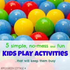 5 simple, no-mess activities for toddlers that will not require much preparation work by parents. Let's make our lives a bit easier, right?