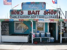 Pondering Pam...Mom's Bait Shop, Rockport, Texas
