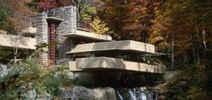 Fallingwater, a southwest Pennsylvania house designed by the famous architect, allows residents to live within a waterfall