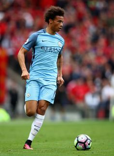 Leroy Sane of Manchester City in action during the Premier League match between…