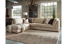 The Malakoff Sectional - Miami Direct Furniture Living Room Furniture Layout, Living Room Sectional, Living Room Interior, Home Furniture, Sectional Sofas, Ashley Sectional, Cottage Furniture, Cheap Furniture, Bedroom Furniture