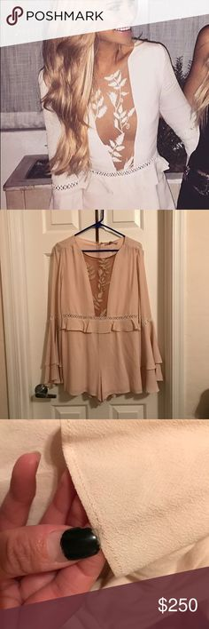 For love and lemons romper Re with tags but some flaws on it at shown in pictures from being in closet and loose threading. NO TRADES For Love and Lemons Other