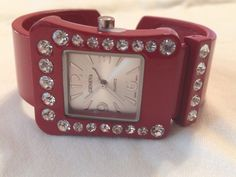 New Geneva Western Red Belt Buckle Cuff Watch #Geneva #Fashion