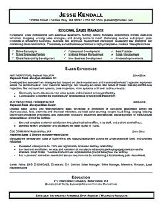regional sales manager resume The sales manager resume should have a great…