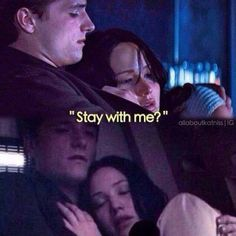 This was the first scene in Mockingjay that made me cry. Now you may think I'm a baby, but think about it. She imagines Peeta there comforting her, but in reality, he was ripped from her arms. Now her nightmares aren't the same, they also now reflect how much she really misses Peeta