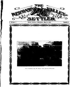 Abbotsford Wisconsin Valley Settler, Saturday, May 13, 1905 : Front Page