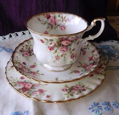 Vintage Royal Albert 'Cottage Garden' Tea Cup, Saucer & Plate Trio ~