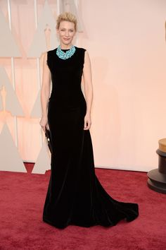 Cate Blanchett in Maison Martin Margiela, with Tiffany & Co. jewels  | Oscars 2015: 40 of the best dressed stars on the red carpet