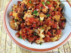 Manchurian Roasted Cauliflower