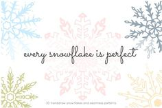 Snowflakes. Graphics Because the truth is, every snowflake is perfect. While I was drawing these magical snowflakes I'm by Funny-sunny