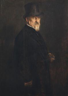 Franz von Lenbach - Ritratto di Giovanni Morelli - 1886 - percorso Volti - Accademia Carrara di Bergamo Pinacoteca