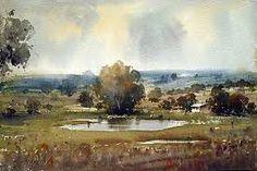 dusan djukarich -watercolor, landscape